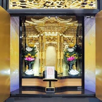 唐湊霊廟の納骨壇「はす」