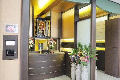 武霊廟の自動式納骨壇