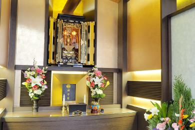 仏式仕様の武霊廟の自動式納骨壇