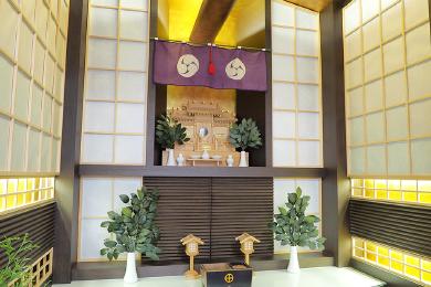 神道仕様の武霊廟の自動式納骨壇