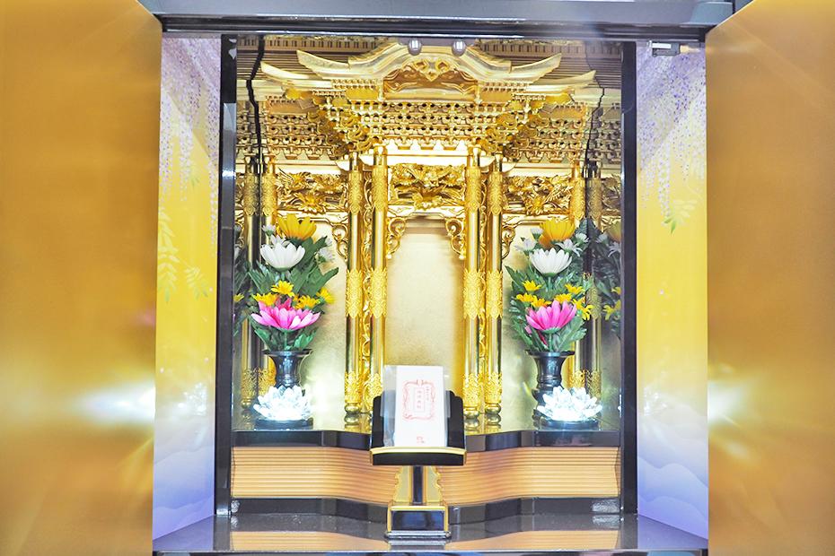 納骨壇はすの仏壇部分